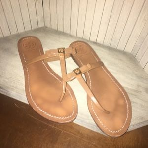 Tory Burch T-Strap leather sandal size 9